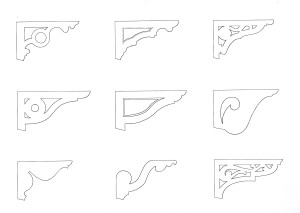 Brackets drawn from Brisbane houses 1880-1930